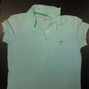 Lilly Pulitzer mint green island polo
